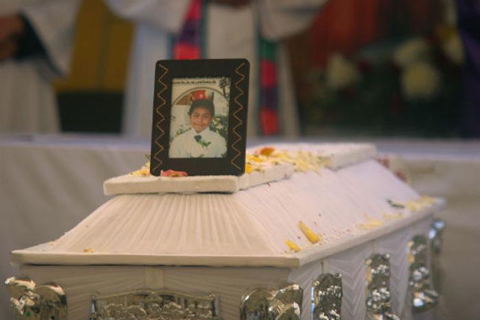 José Luis Tehuatlie murió luego de ser impactado por una bala de goma de la Policía de Puebla durante un desalojo en 2014. Foto: Francisco Cañedo, SinEmbargo