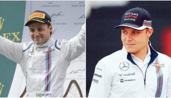 Massa y Bottas fueron la pareja de pilotos titular de la escudería Williams durante la temporada pasada. Foto: Especial