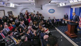 Barack Obama dio su última conferencia de prensa. Foto: EFE.