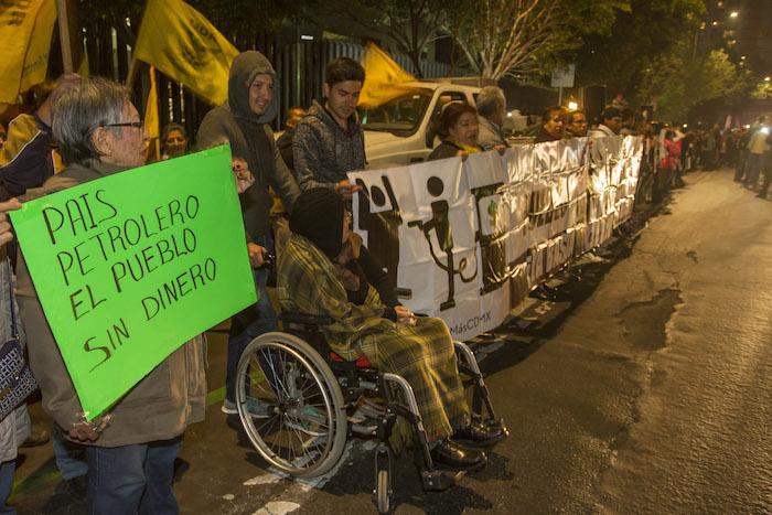 """Las manifestaciones en contra del """"mega gasolinazo"""" se han replicado en casi todo el país durante 13 días. Foto: Cuartoscuro"""