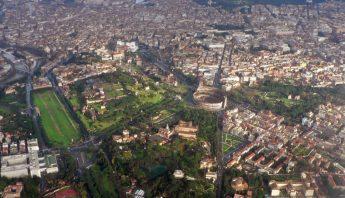 El centro de Roma desde una vista aérea. Foto: Oliver-Bonjoch/Wikimedia Commons