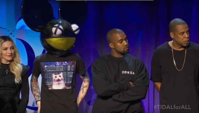 deadmau5 y Kanye West  compartiendo escenario. Foto: YouTube