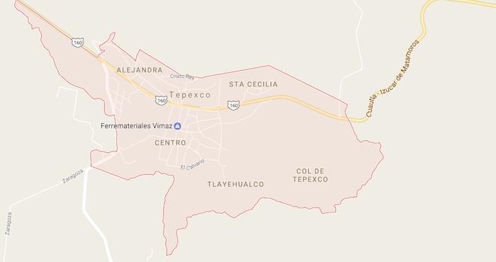 Tepexco, Municipio de Puebla. Foto: Google maps.