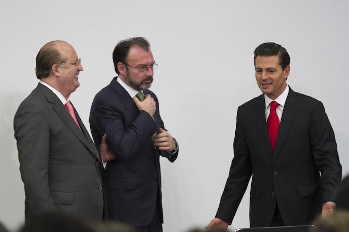 El Secretario de Relaciones Exteriroes y el Presidente de México. Foto: Cuartoscuro.