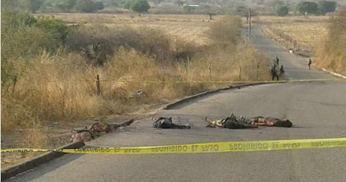 Matan a tiros a 5 hombres en comunidad de San Miguel Totolapan