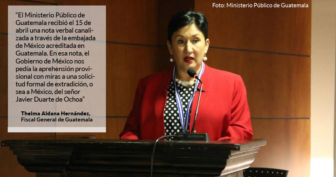 ADEMÁS  No detuvimos antes a Duarte para extraditarlo porque la PGR no lo pedía Fiscal de Guatemala