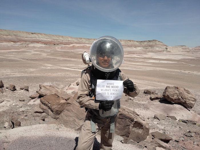 Estudiante mexicano realiza en Utah simulaciones de vida y trabajo en Marte