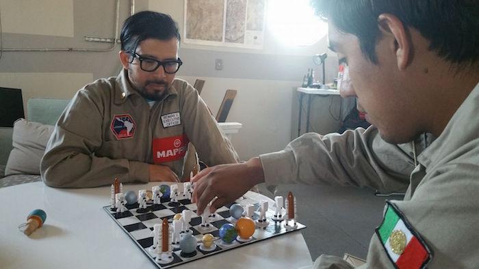 Universitario Yair Piña López viajó a Marte al desierto de Utah