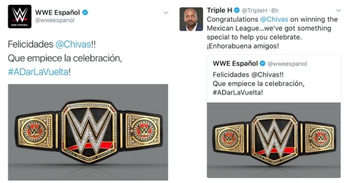 Chivas campeón de la Liga MX ¿y de la WWE?