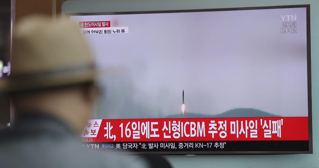 Corea del Norte lanza posible misil balístico