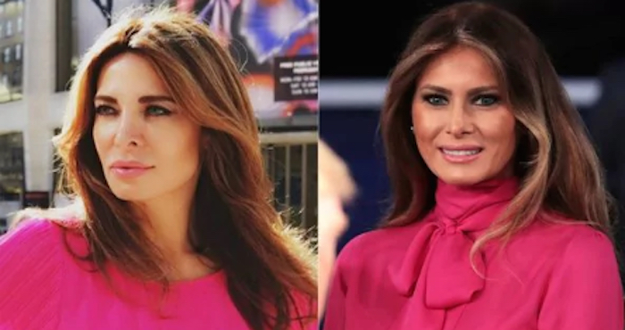 El negocio de la doble de Melania Trump
