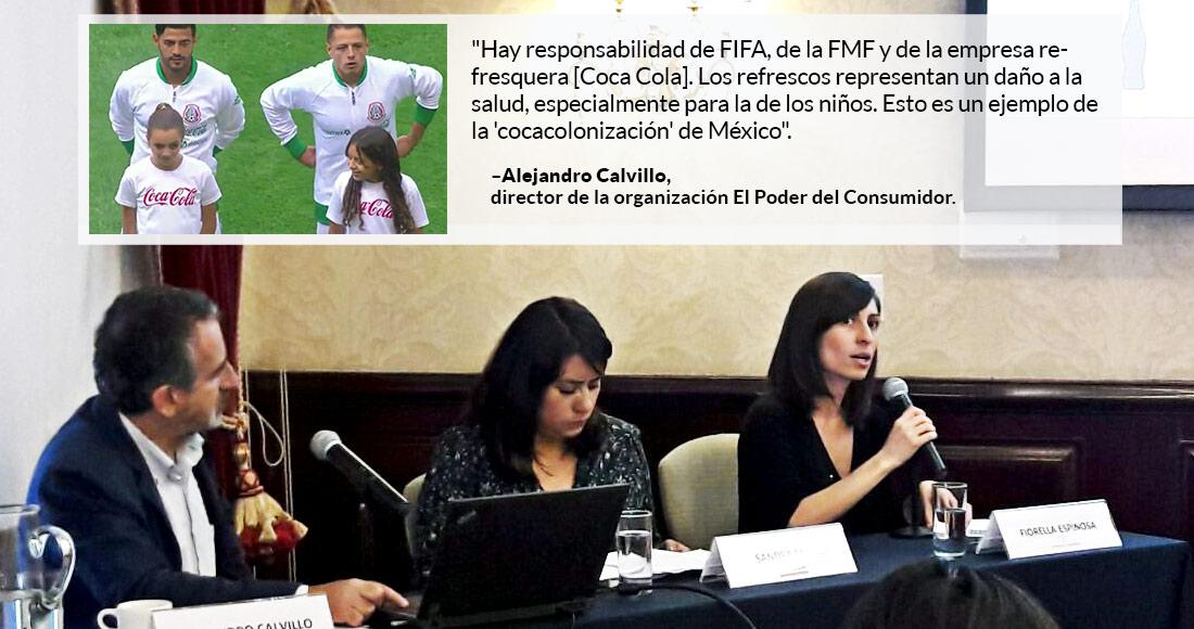 Coca-Cola, FMF y FIFA no deben anunciar refrescos con niños