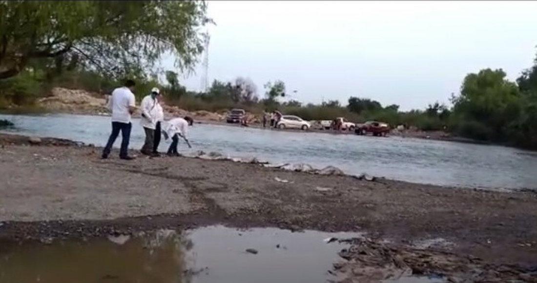 Encuentran restos humanos en río de Sinaloa