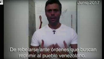 "Leopoldo López pide a militares ""rebelarse"" a las órdenes de actuar contra  venezolanos (VIDEO) a90f34bb096"
