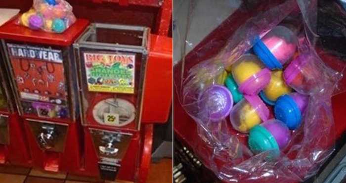 Niño encuentran cocaína en juguete de máquina expendedora
