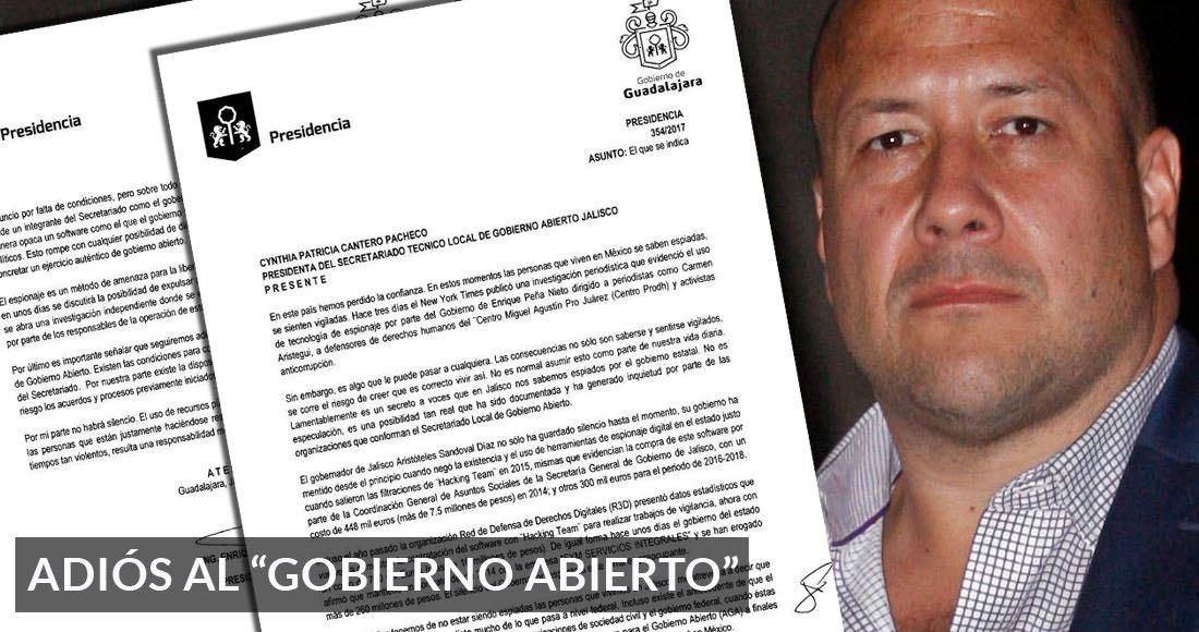 Renuncia Enrique Alfaro a Gobierno Abierto