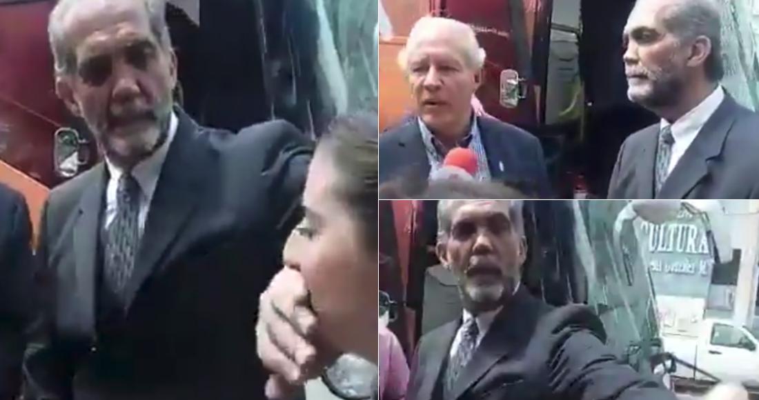 Presidente de ConFamilia tapa la boca a mujer