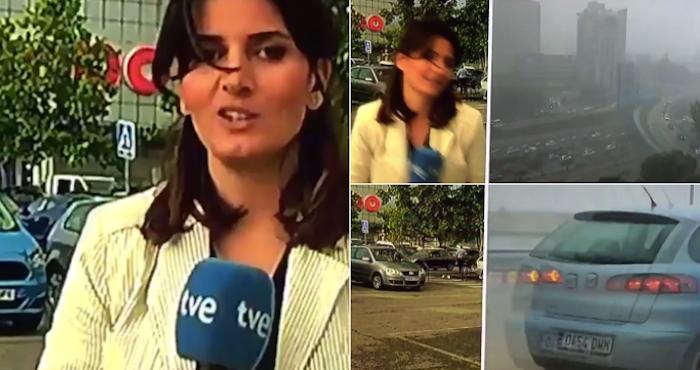 Periodista cometió error en vivo y huyó