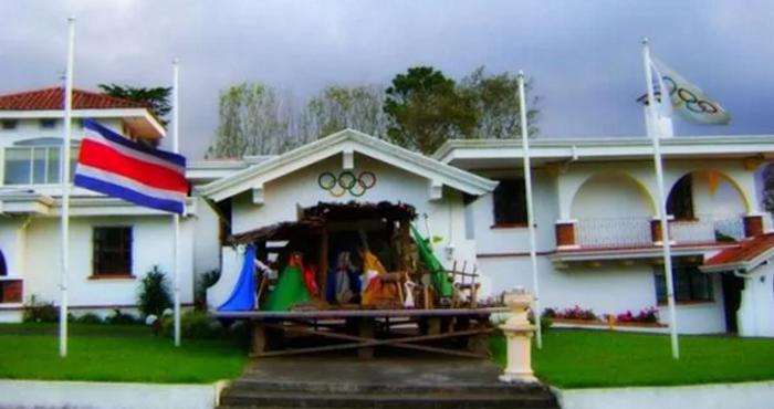Casa de Caro Quintero en Costa Rica, que se habilitó como Villa Olímpica. Foto: COI, Infobae
