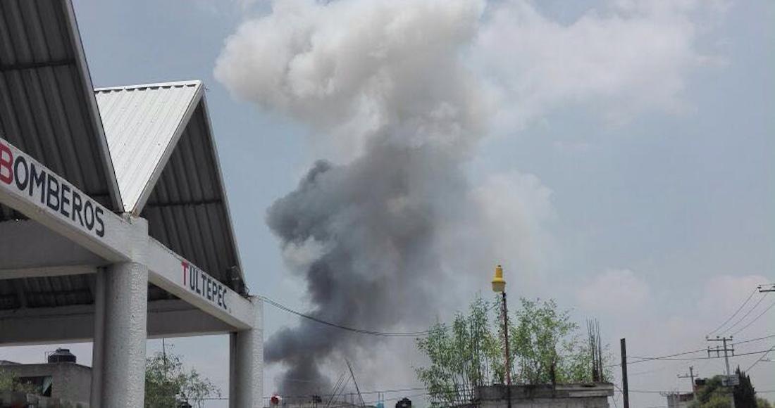 Explota almacén con pirotecnia en Tultepec