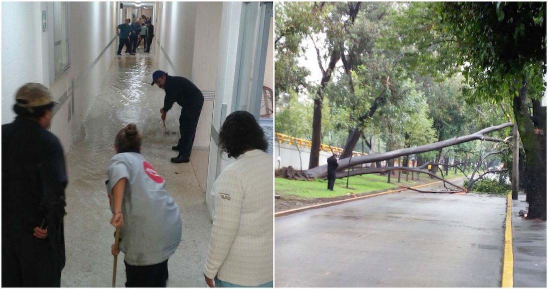 Hospital General Xoco se inunda por las lluvias — CDMX