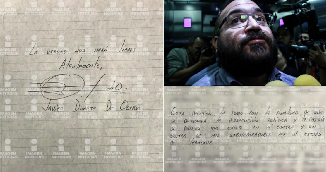 En huelga de hambre el exgobernador Javier Duarte