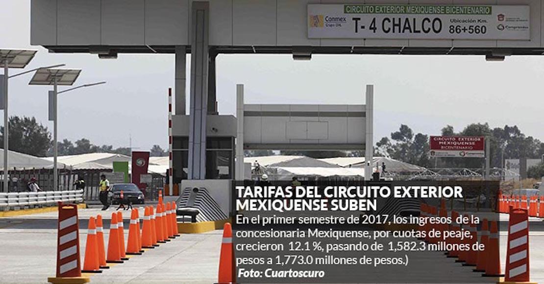 OHL aumenta tarifas en vías mexiquenses