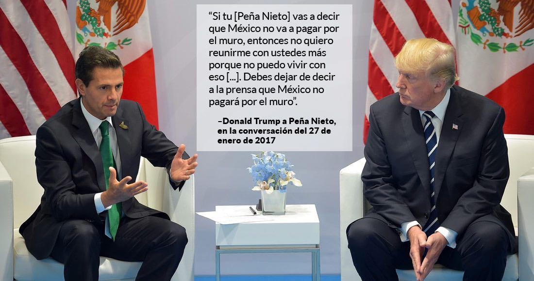 Trump asegura que Peña Nieto elogió política migratoria de EE.UU