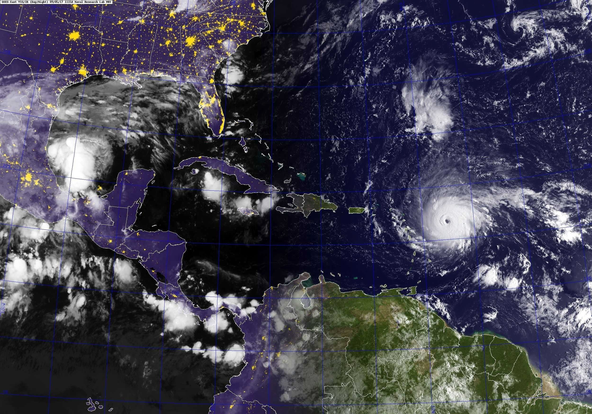 El huracán Irma destrozó Antigua y Barbuda, se dirige a Estados Unidos