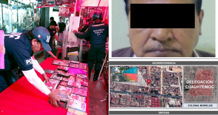 Capturan en Tepito a un sujeto que vendía pornografía infantil
