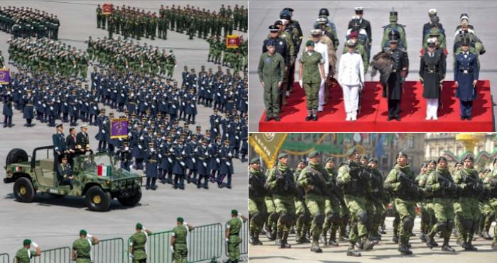 Por primera vez en la historia, mujeres encabezan contingentes del Desfile Militar en la CdMx