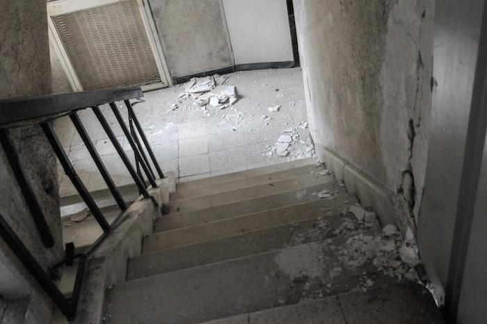 Edificio en la Doctores a punto del colapso por sismo [VIDEOS]