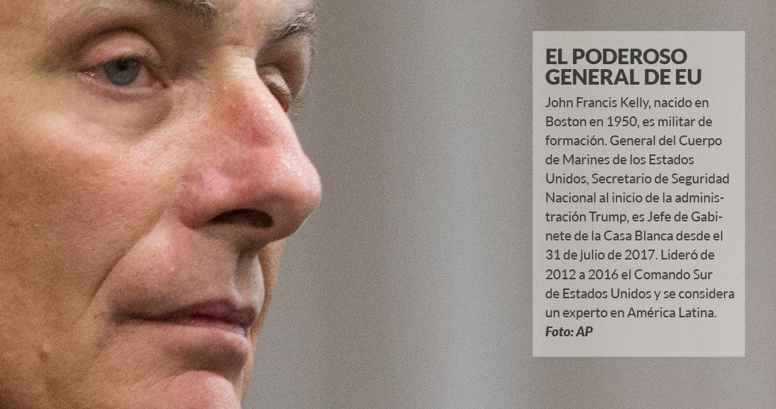 México al borde del colapso, advierte John Kelly