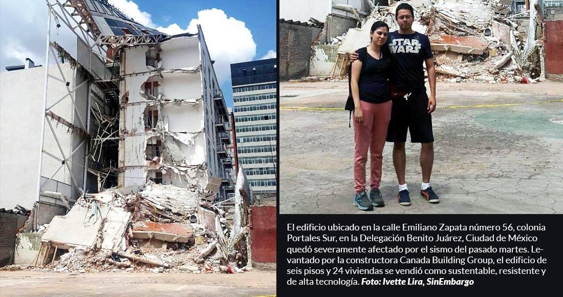 Denuncia Delegación Benito Juárez a dos constructoras cuyos edificios colapsaron por sismo