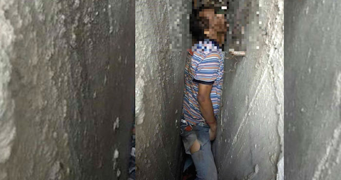 Ubican un hombre muerto entre dos paredes
