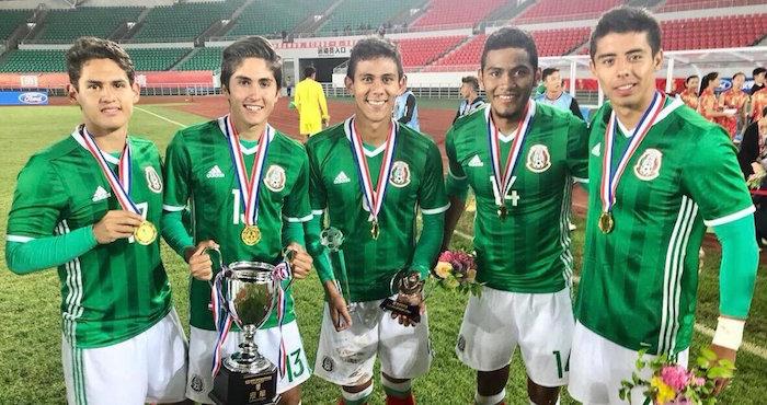 Selección Nacional Mexicana Sub 18 gana torneo amistoso en China