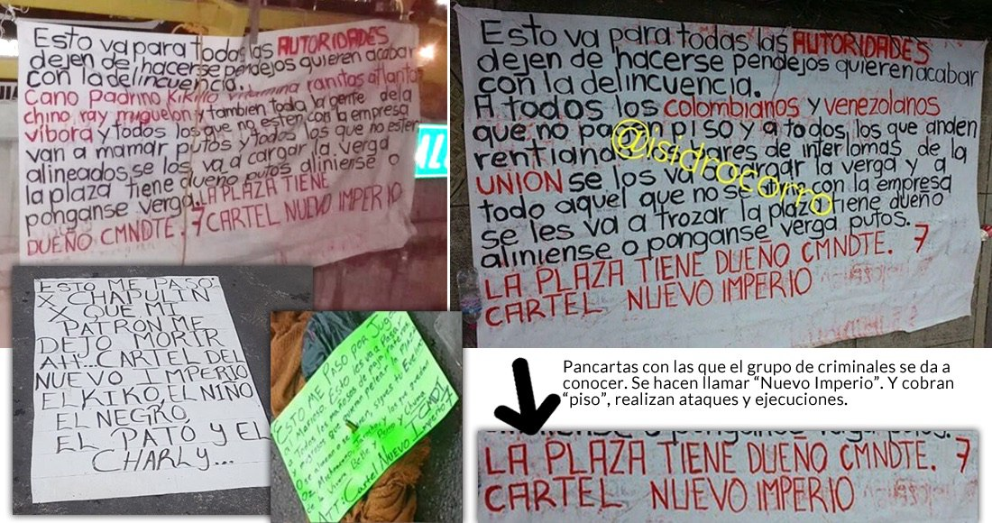 """Sicarios leave Sinaloa and Form Cartel in Mexico State, dramatically named: """"New Empire"""""""