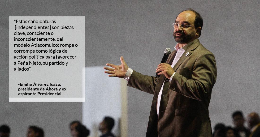 Álvarez Icaza no se lanzará como candidato presidencial