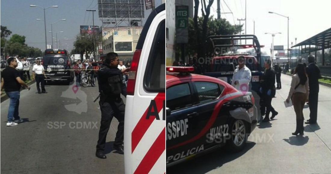 Captan momento en que abaten a presunto asaltante en Vallejo — CDMX