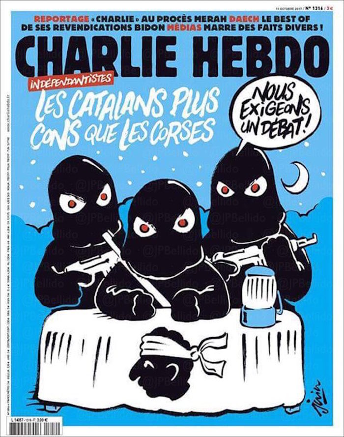 Lanza Charlie Hebdo una dura crítica al 'procés' catalán
