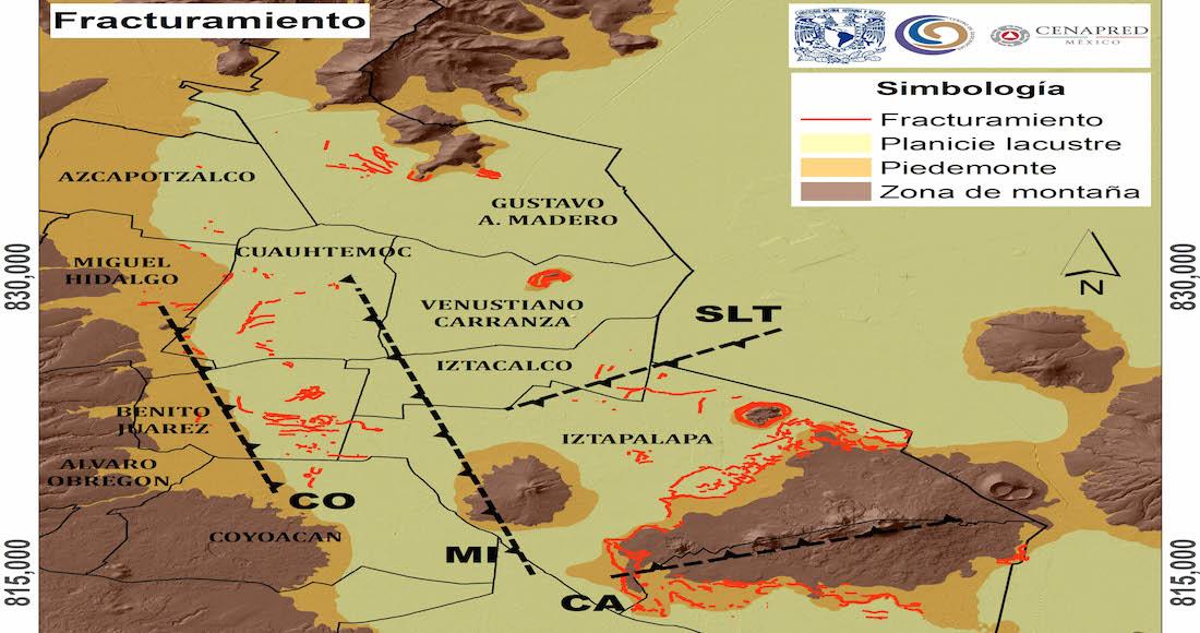 La UNAM identifica fracturas del suelo de CDMX