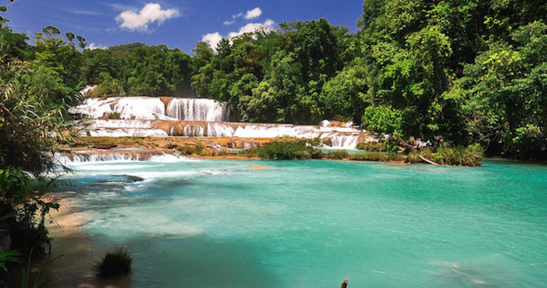 Inician 'rescate' de las Cascadas de Agua Azul en Chiapas