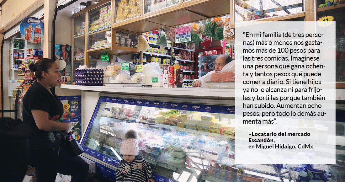 Canasta alimentaria, cada vez menos accesible: Coneval