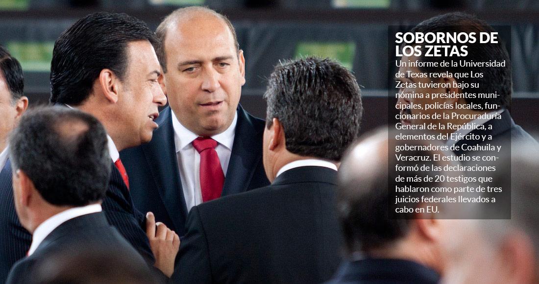 Pemex, CFE y gobernadores priístas recibieron sobornos de Los Zetas