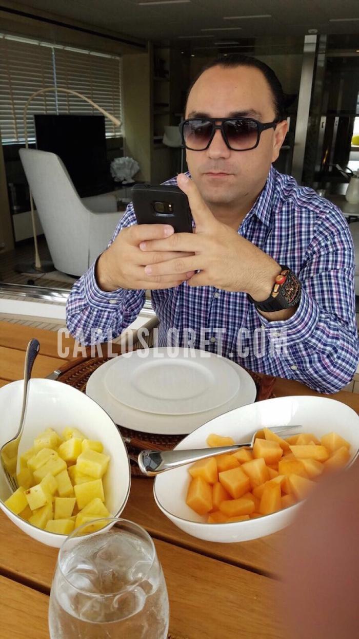 Roberto Borge en Miami. Foto: carlosloret.com