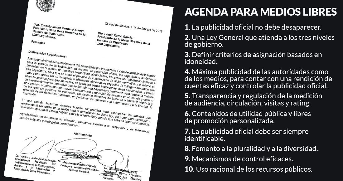CNDH, INAI e INE urgen a discutir y regular la publicidad oficial ya ...