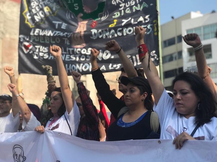 Damnificados del 19-S marchan rumbo al Ángel de la Independencia