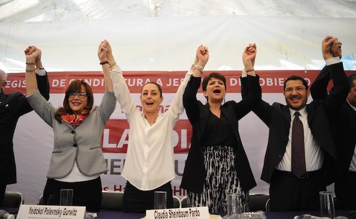 Claudia Sheinbaum registra candidatura para jefatura de Gobierno