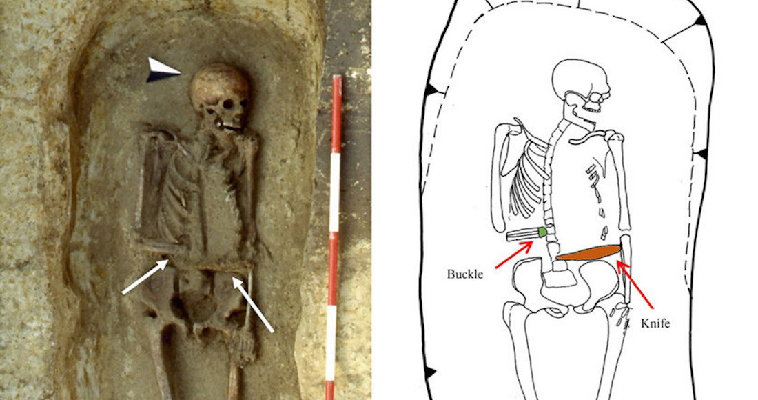 Antroplogos hallan el esqueleto de un hombre manco que utilizaba un