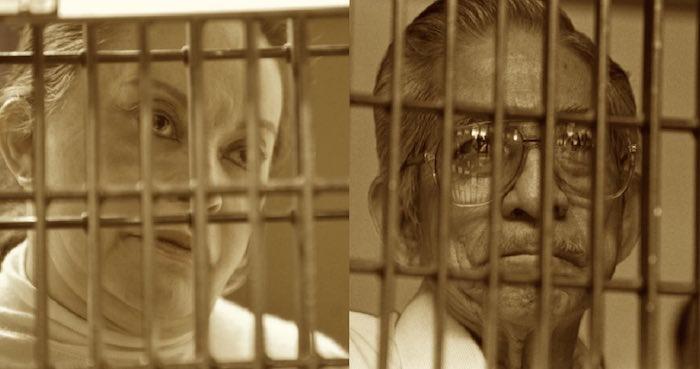 """""""La Quina"""" y """"La Maestra"""", líderes sindicales enemistados con el gobierno en turno y luego encarcelados. Fotos: Cuartoscuro"""